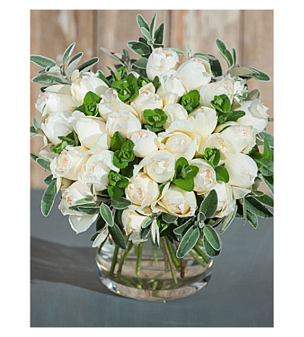 THE REAL FLOWER COMPANY Simply Cream Piaget bouquet