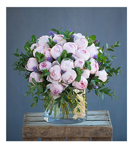 THE REAL FLOWER COMPANY Simply Peony Pink bouquet