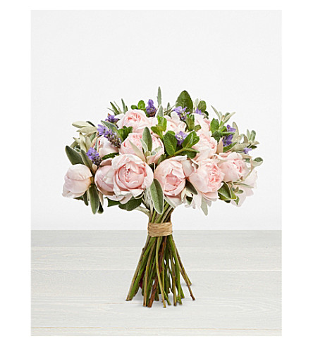 THE REAL FLOWER COMPANY Simply Peony Pink Rose bouquet