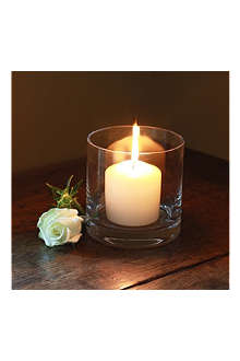 THE REAL FLOWER COMPANY Small hurricane lamp with candle