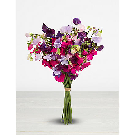 THE REAL FLOWER COMPANY English sweet pea bouquet
