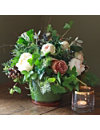THE REAL FLOWER COMPANY Christmas Scented Terracotta Flowerpot