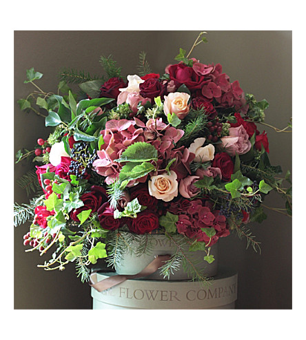 THE REAL FLOWER COMPANY Ultimate luxury scented red antique bouquet