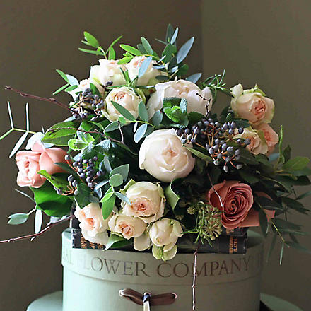 THE REAL FLOWER COMPANY Scented Woodland Rose Posy bouquet