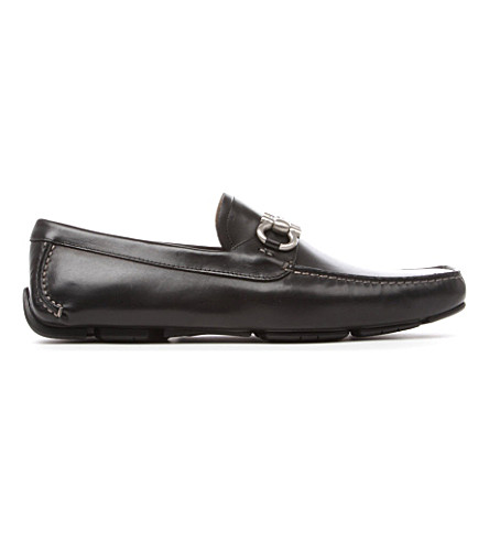 FERRAGAMO Calfskin loafers (Black