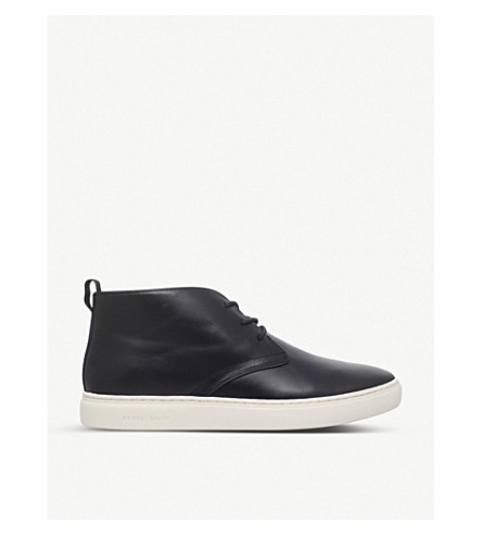 PAUL SMITH Fong leather chukka boots (Navy