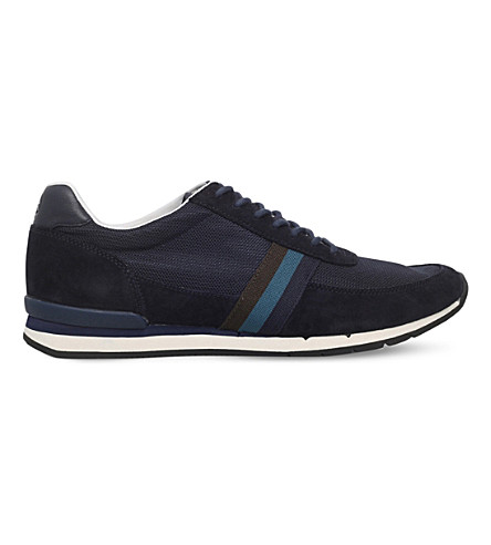 PAUL SMITH Swanson suede and mesh trainers