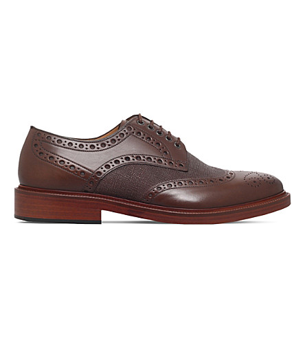 PAUL SMITH Xander leather brogues