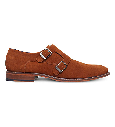 TED BAKER Kartor 3 tan leather double monk shoes
