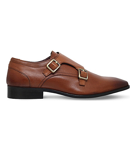 KG KURT GEIGER Brook leather monk shoes