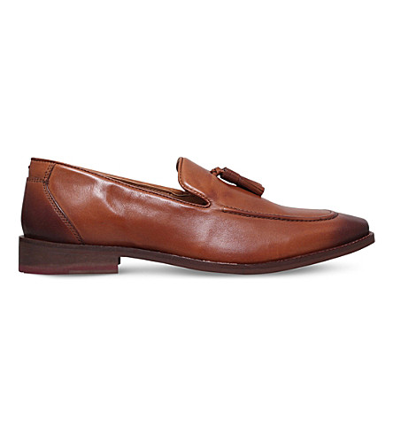 KG KURT GEIGER Ashton leather loafers (Tan