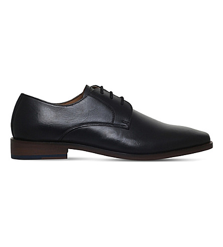KG KURT GEIGER Zac leather Derby shoes (Black