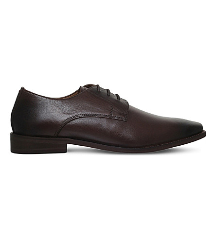 KG KURT GEIGER Zac leather Derby shoes (Brown
