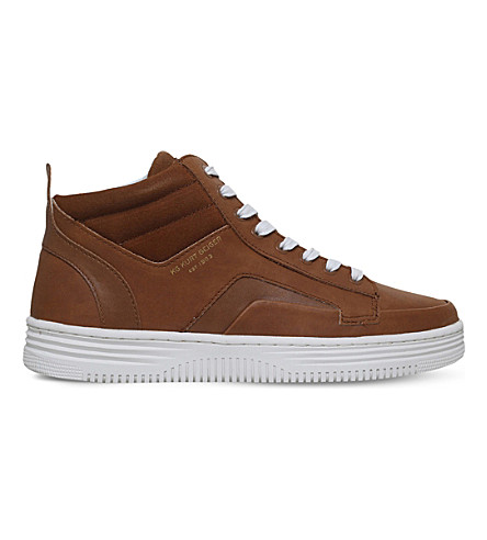 KG KURT GEIGER Phoebe high-top sneakers (Tan