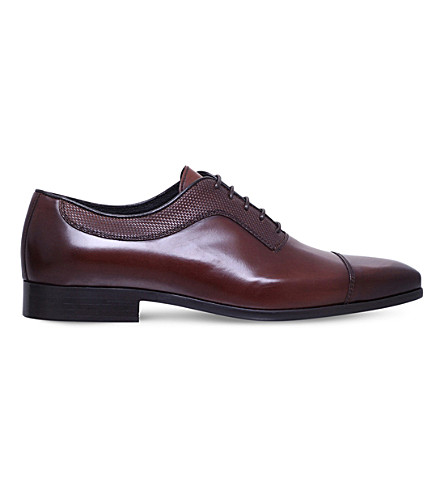 KG KURT GEIGER Mansion leather Oxford shoes (Brown