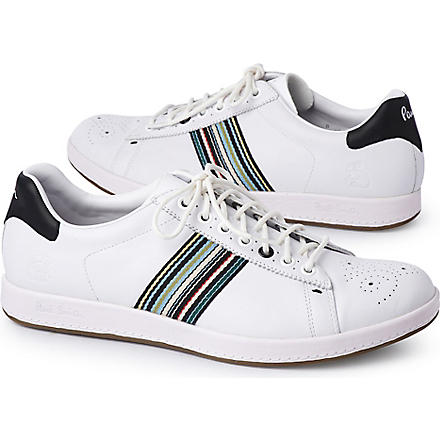 PAUL SMITH Textured rabbit trainers (White