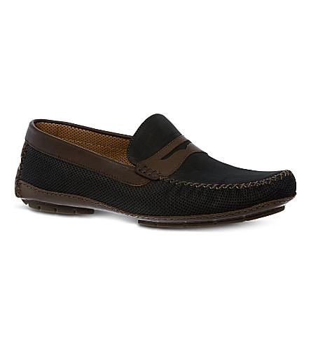 STEMAR Capri driver shoes (Blk/brown