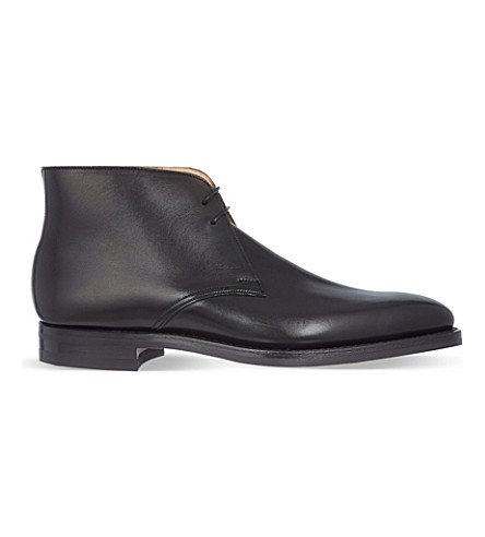 CROCKETT & JONES Tetbury two-eye chukka boots (Black