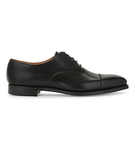 CROCKETT & JONES Hallam leather Oxford shoes (Black