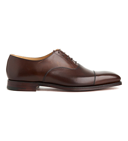 CROCKETT & JONES Hallam leather oxford shoes (Brown