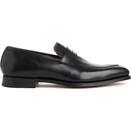 CROCKETT & JONES Merton apron loafers (Black