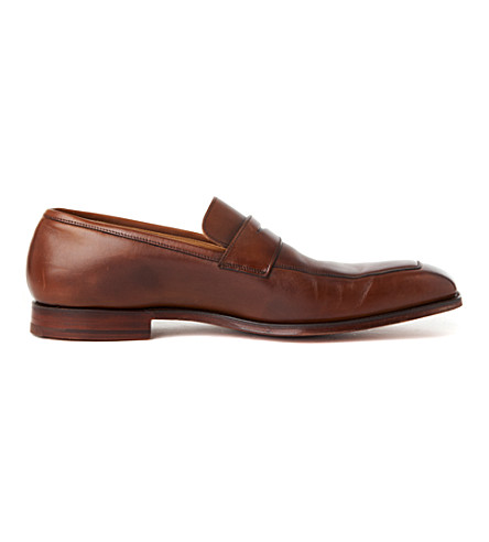 CROCKETT & JONES Merton apron loafers (Brown