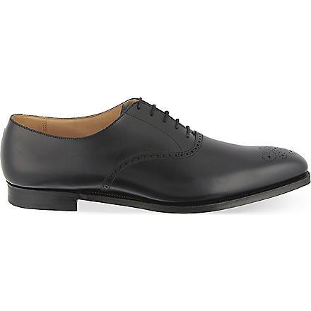 CROCKETT & JONES Edgeware punched Oxford shoes (Black