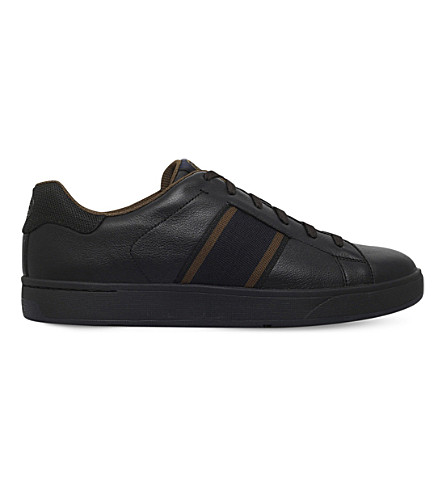 PAUL SMITH Lawn leather trainer (Black