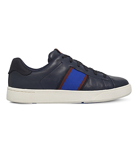 PAUL SMITH Lawn leather trainer (Navy
