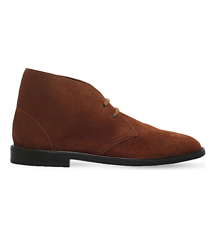 PAUL SMITH Alec suede chukka boots (Brown