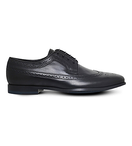 PAUL SMITH Wells leather Derby shoes (Black