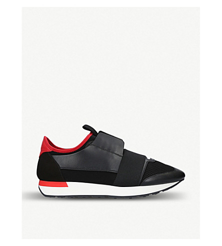 Capsule Race Runners leather, suede and mesh trainers(690-10004-0358206169)