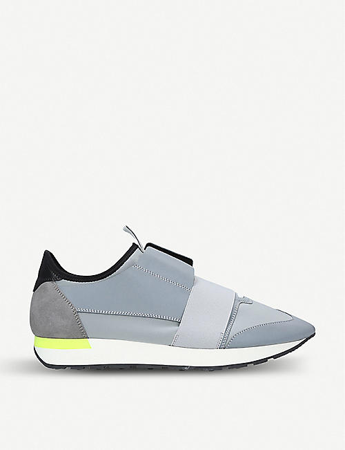BALENCIAGA Capsule Race Runners neoprene, suede and mesh trainers