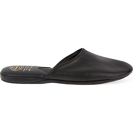CHURCH Air travel mule slippers (Black