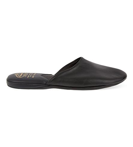 CHURCH Air travel mule slippers (Black