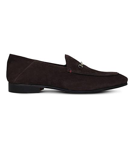 KG KURT GEIGER Max suede loafers (Dark+brown