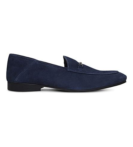 KG KURT GEIGER Max suede loafers (Navy