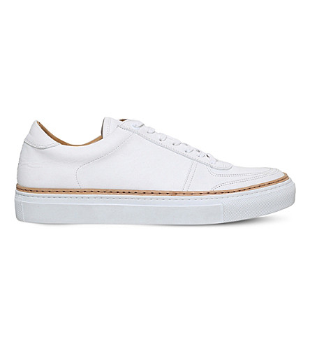 PHILIPP PLEIN Grand low-top leather trainers (White