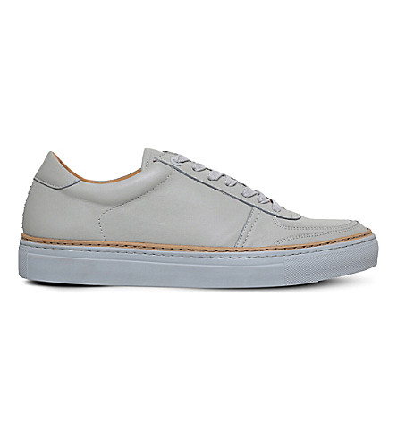 PHILIPP PLEIN Grand low-top leather sneakers (Grey