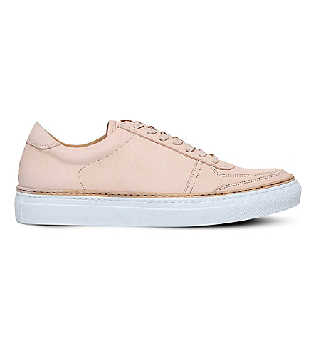 PHILIPP PLEIN Grand low-top leather trainers (Beige