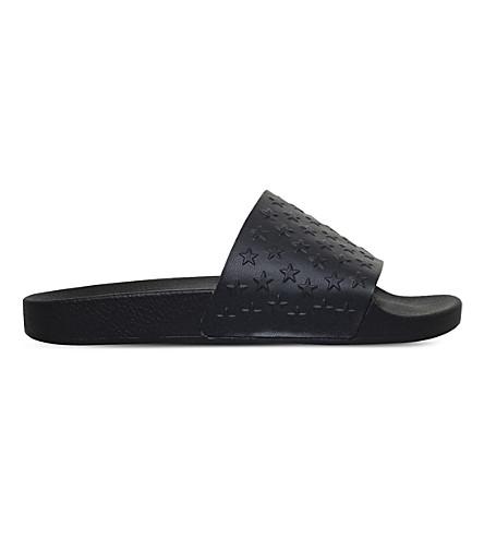 KG KURT GEIGER Waikato star-patterned slide sandals (Black