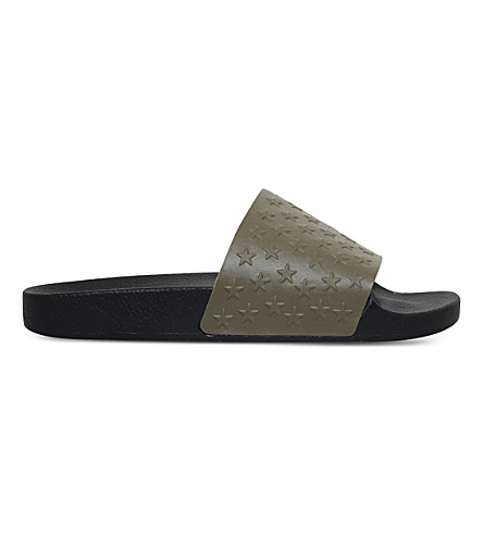 KG KURT GEIGER Waikato star-patterned slide sandals