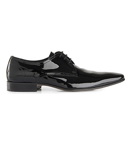 KG KURT GEIGER Anton patent-leather Derby shoes (Black