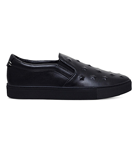 KG KURT GEIGER Starz leather sneakers (Black