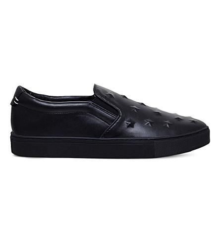 KG KURT GEIGER Starz leather trainers (Black