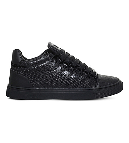 KG KURT GEIGER Malone reptile-embossed trainers