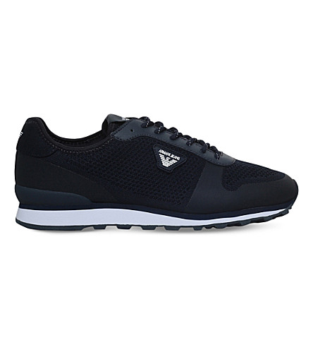ARMANI JEANS The Gym mesh trainers (Navy