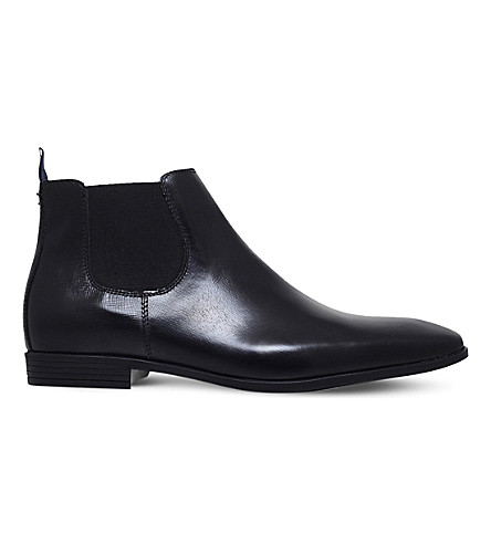 KG KURT GEIGER Waldock leather Chelsea boots (Black