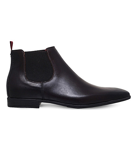 KG KURT GEIGER Waldock leather Chelsea boots (Wine