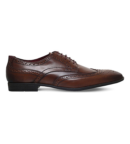 KG KURT GEIGER Eugene leather brogues (Tan